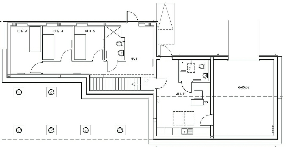 lower floor plan for Rathad An Drobhair Self Catering Accommodation in Strathconon