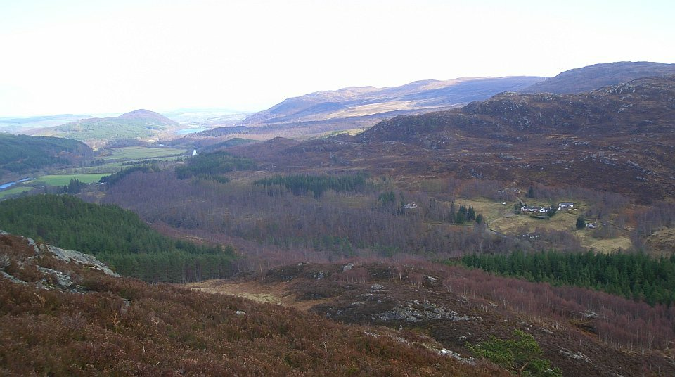 view east from hill across the glen