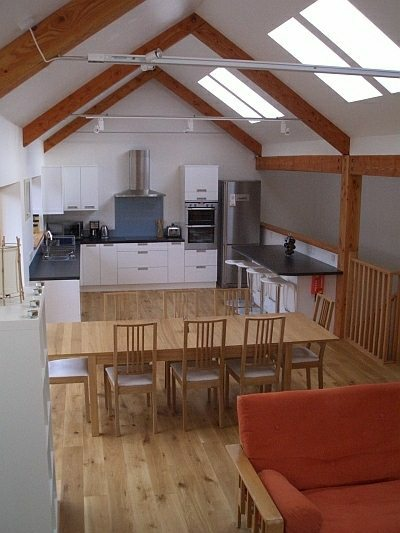 Kitchen diner in Rathad an Drobhair Holiday Cottage Rental Accommodation in Strathconon
