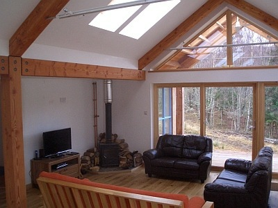 Living room in Rathad an Drobhair Holiday Cottage Rental Accommodation in Strathconon