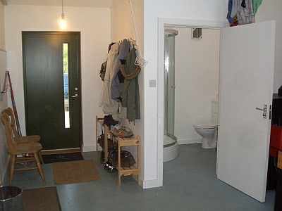 Rathad An Drobhair holiday cottage Strathconon - utility room entrance and shower room